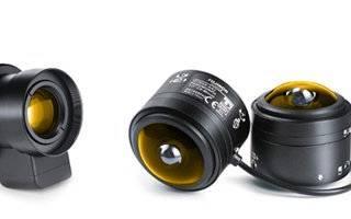Камера видеонаблюдения с двумя объективами