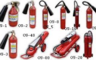 Углекислотные газовые огнетушители