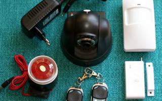 Домашняя охранная сигнализация GSM с камерой
