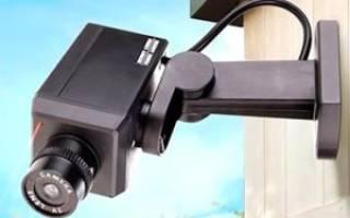 Как установить муляж видеокамеры?