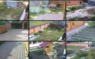 Набор камер видеонаблюдения для дачи